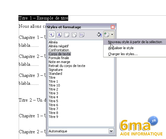 Openoffice writer creer une table des matieres - Ouvrir document open office avec word ...