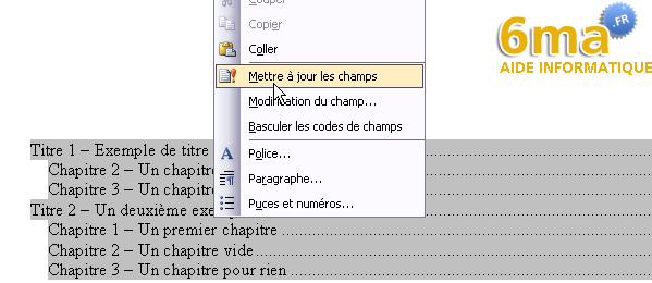 tuto word creer table des matieres image 14