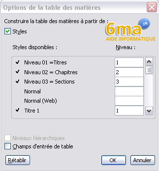 tuto word creer table des matieres image 19