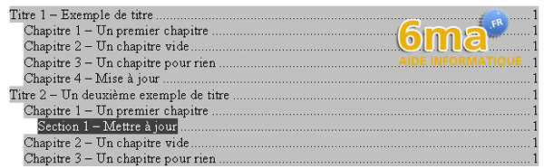 tuto word creer table des matieres image 20