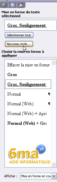 tuto word creer table des matieres image 3