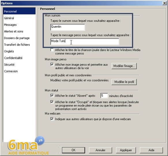 tutorial Windows Live Messenger pour debutants image18