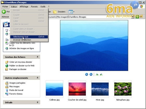 tutorial imprimer des photos avec Windows XP image01