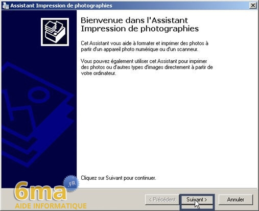 tutorial imprimer des photos avec Windows XP image03