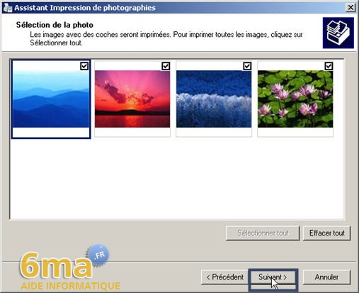 tutorial imprimer des photos avec Windows XP image04
