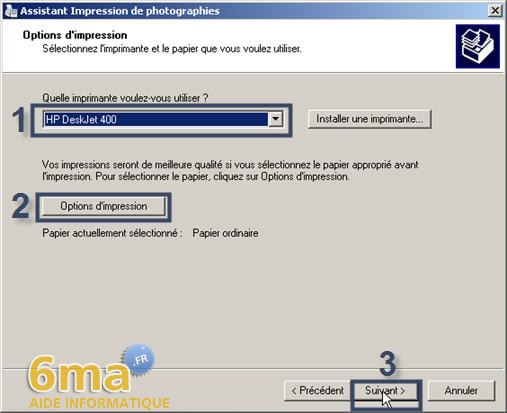 tutorial imprimer des photos avec Windows XP image05