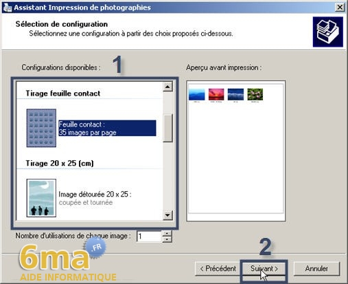 tutorial imprimer des photos avec Windows XP image06