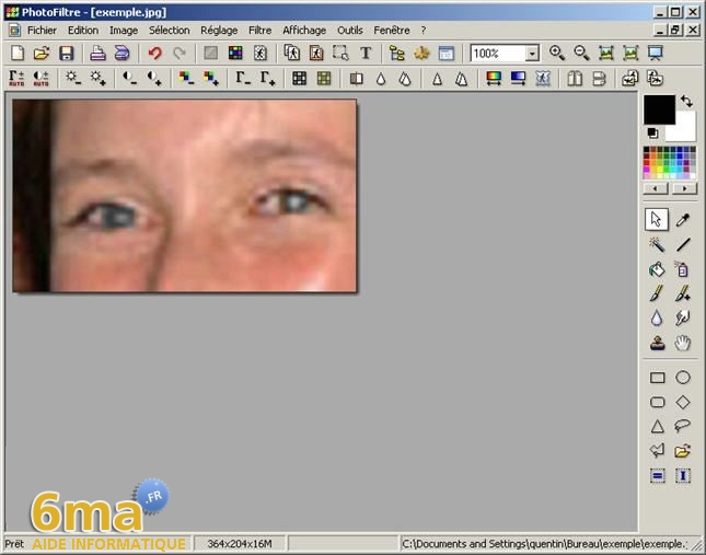 tutorial suppression yeux rouges avec PhotoFiltre image09