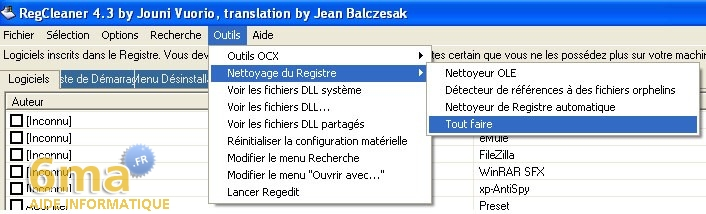 tutorial RegCleaner systeme image 11