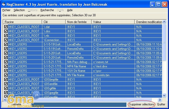 tutorial RegCleaner systeme image 13