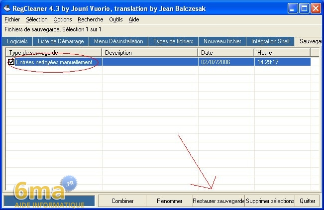 tutorial RegCleaner systeme image 14