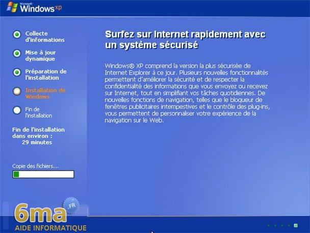 comment faire réparer l'installation de Windows XP