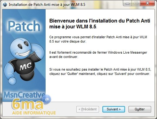 Eviter la mise à jour forcée de Windows Live Messenger 8.5 image 0
