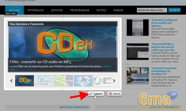 Awesome Screenshot : Réaliser des captures d'écran dans Chrome image 1