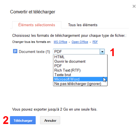 Convertir et t l charger vos google documents - Comment convertir un fichier pdf en open office ...