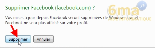 Comment supprimer Facebook de Windows Live Messenger 2011 / 2012 ? image 2