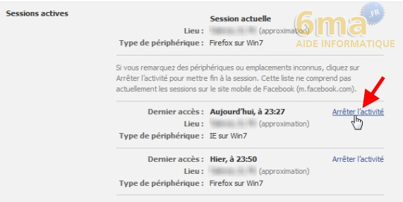Comment fermer une session Facebook à distance ? image 2