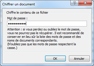 Protéger un document (Word/Open Office/Libre Office) par mot de passe image 1