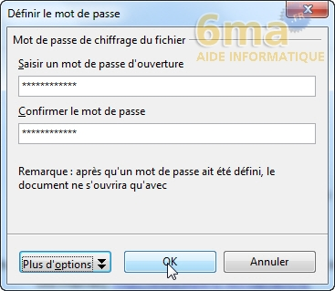 Protéger un document (Word/Open Office/Libre Office) par mot de passe image 3