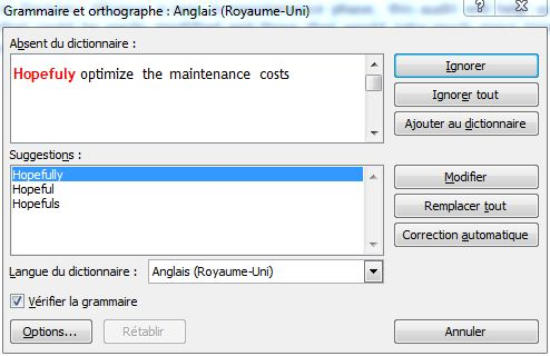 Corriger l'orthographe dans Word 2010 image 1