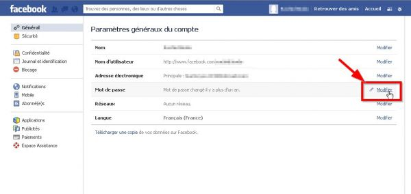 Comment changer son mot de passe Facebook ? image 1