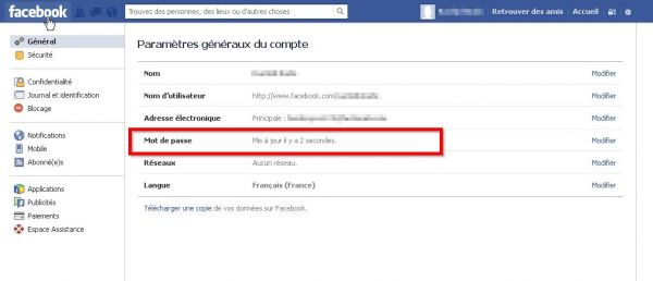 Comment changer son mot de passe Facebook ? image 4