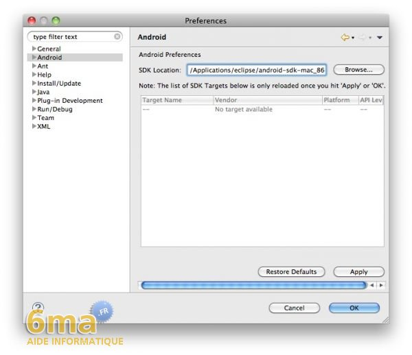Installer le SDK Android sur Mac OSX image 11