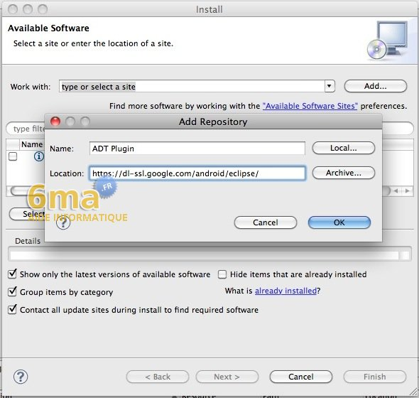 Installer le SDK Android sur Mac OSX image 3