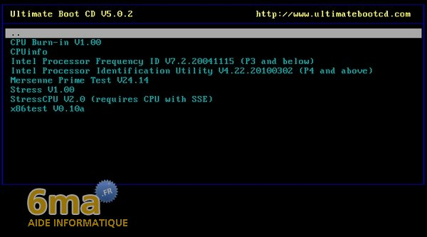 Ultimate Boot CD 5.0.2 : Présentation image 2