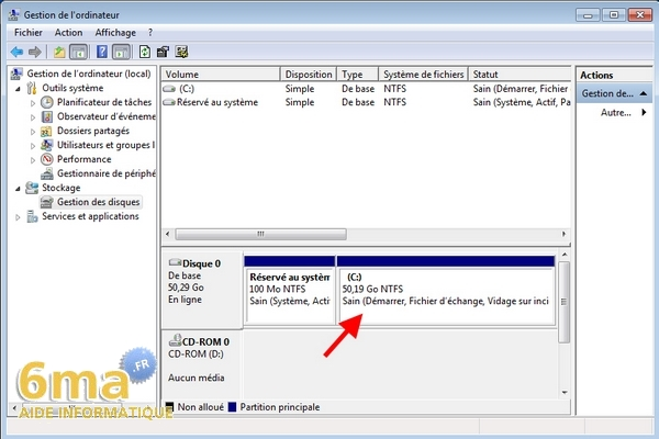 Partitionner un disque dur sous windows 7 ou vista for Ouvrir fenetre plein ecran windows 7