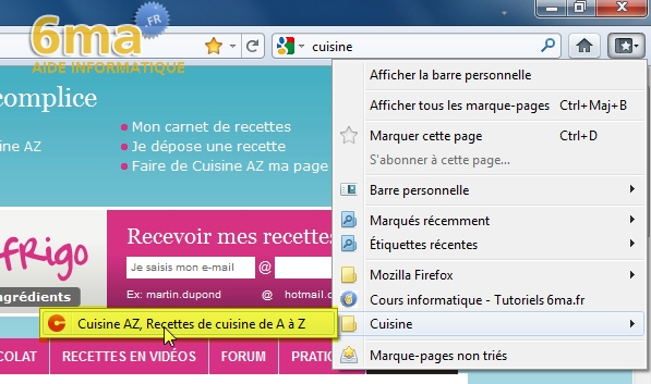 Marque-Pages Firefox image 12
