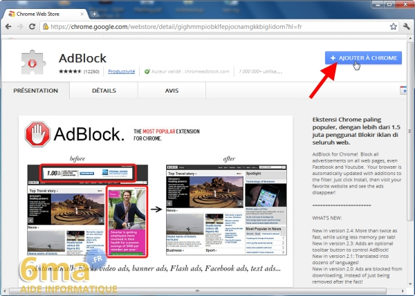 Adblock bloquer les publicit s sur google chrome for Bloquer fenetre pop up chrome