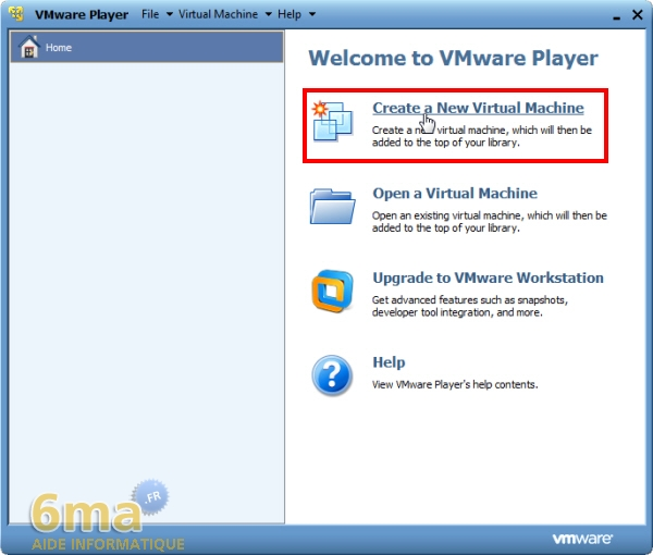 Installer Windows 8 Developer Preview sur Vmware Player (1/2) image 0