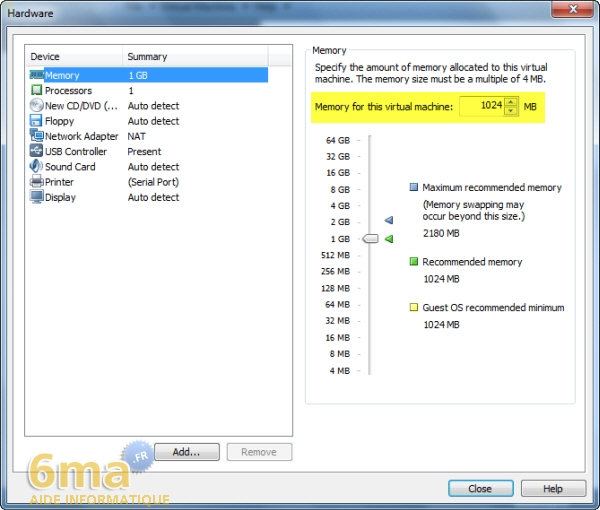 Installer Windows 8 Developer Preview sur Vmware Player (1/2) image 7