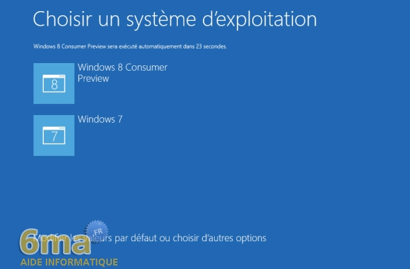 Dual Boot Windows 7 / Windows 8 : Créer / Supprimer image 10