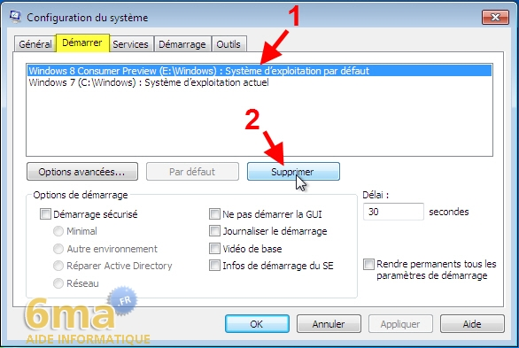 Dual Boot Windows 7 / Windows 8 : Créer / Supprimer image 14