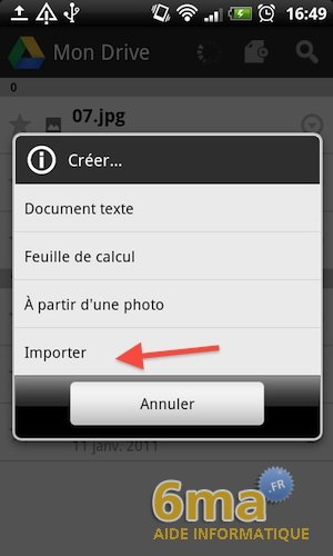 Google Drive sur Android image 10