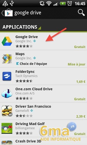 Google Drive sur Android image 1
