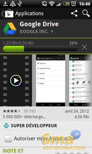 Google Drive sur Android image 4