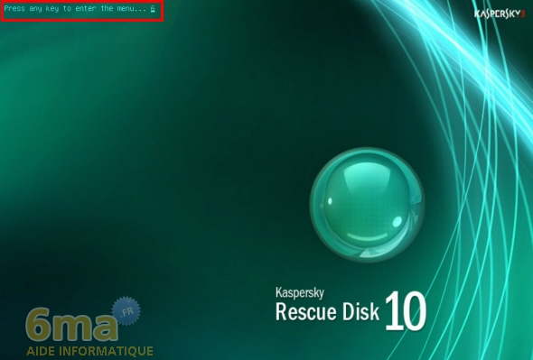 Réparer un PC Windows infecté avec Kaspersky Rescue Disk image 4