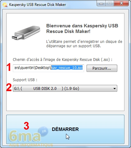 Réparer un PC Windows infecté avec Kaspersky Rescue Disk image 2