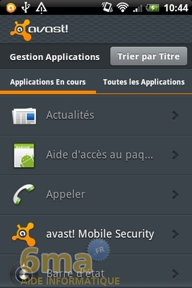 Protéger son mobile Android avec Avast Mobile Security image 8