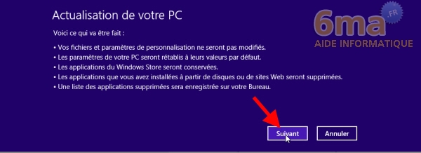 Comment actualiser et réinitialiser son PC sous Windows 8 ? image 3