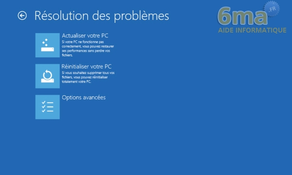 Comment actualiser et réinitialiser son PC sous Windows 8 ? image 22