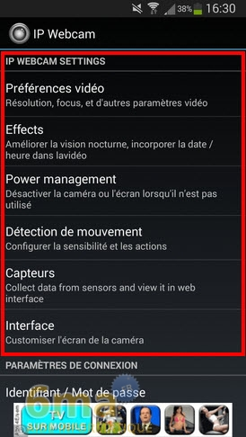 Comment transformer un téléphone Android en Webcam IP ? image 0