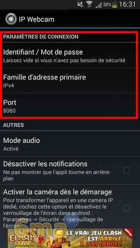 Comment transformer un téléphone Android en Webcam IP ? image 1