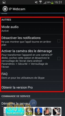 Comment transformer un téléphone Android en Webcam IP ? image 2