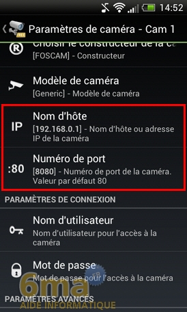 Comment transformer un téléphone Android en Webcam IP ? image 21