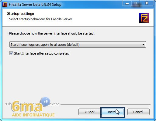 Creer un serveur FTP avec Filezilla Server image 2