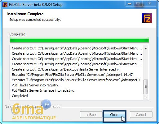 Creer un serveur FTP avec Filezilla Server image 3